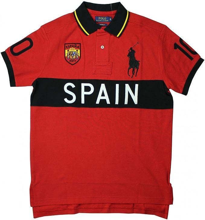 Ralph Lauren Hombres Polo España Rojo (M): Amazon.es: Ropa y ...
