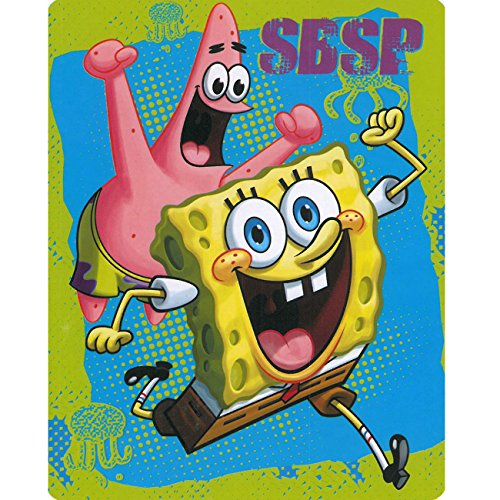 Spongebob Zappy Sponge 40x50 Mink Style Blanket in Gift Box