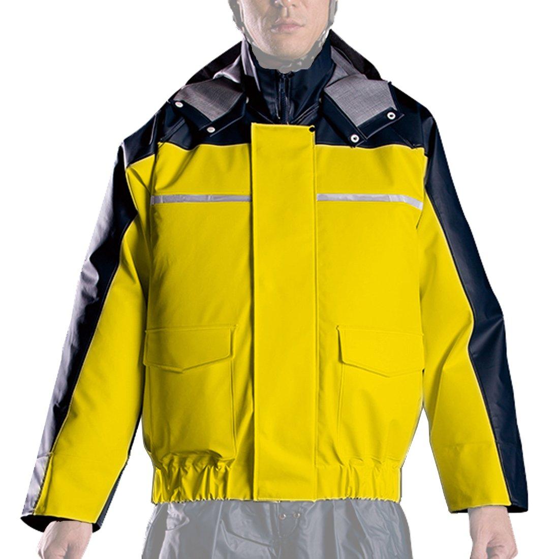 ナダレス 空調服 ブルゾン 全4色 全8サイズ レインパーカ イエロー 4L 反射テープ付き 6097 [正規代理店品] B011C025M2 4L 4L