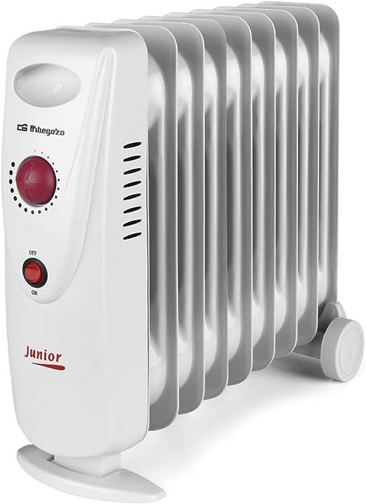 Orbegozo RO 1210 C – Radiador de aceite mini, potencia de 1200 W, construcción modular y diseño compacto en color blanco: Amazon.es: Hogar