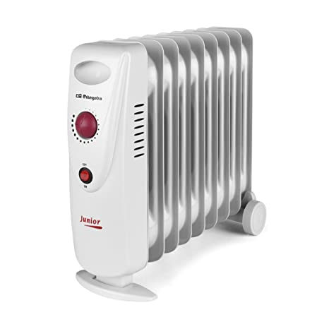 Orbegozo RO 1210 C – Radiador de aceite mini, potencia de 1200 W, construcción modular y diseño compacto en color blanco