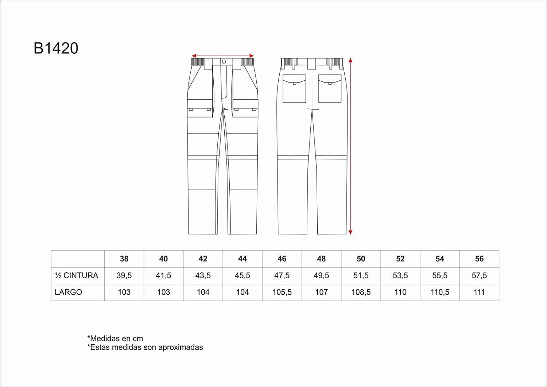 Pantal/ón multiobolsillos Desmontable B1420 Mayton