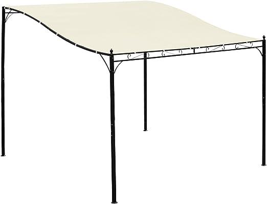 Pérgola, cenador de jardín, toldo, 2, 97 x 2, 97 m, adosable ...