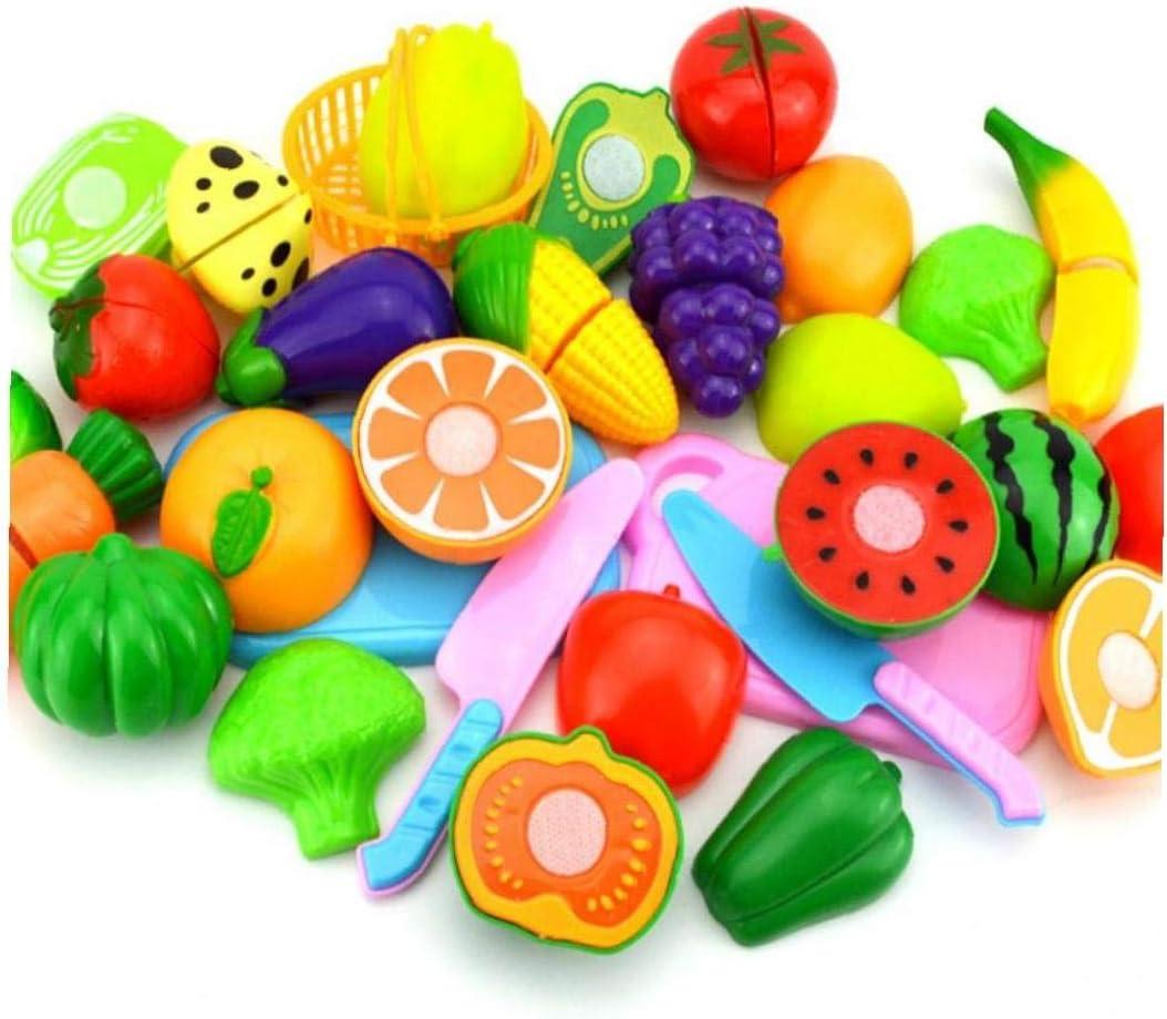 BYFRI 8pcs Juguetes De La Cocina De Corte Juguetes De Imaginación De Frutas De Comida De Juguete Juguetes Educativos para Chicos, Chicas Niños con Caja De Almacenamiento