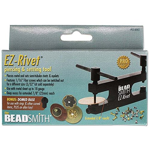 BeadSmith EZ-Rivet Piercing and Setting Tool Set, 1/16''