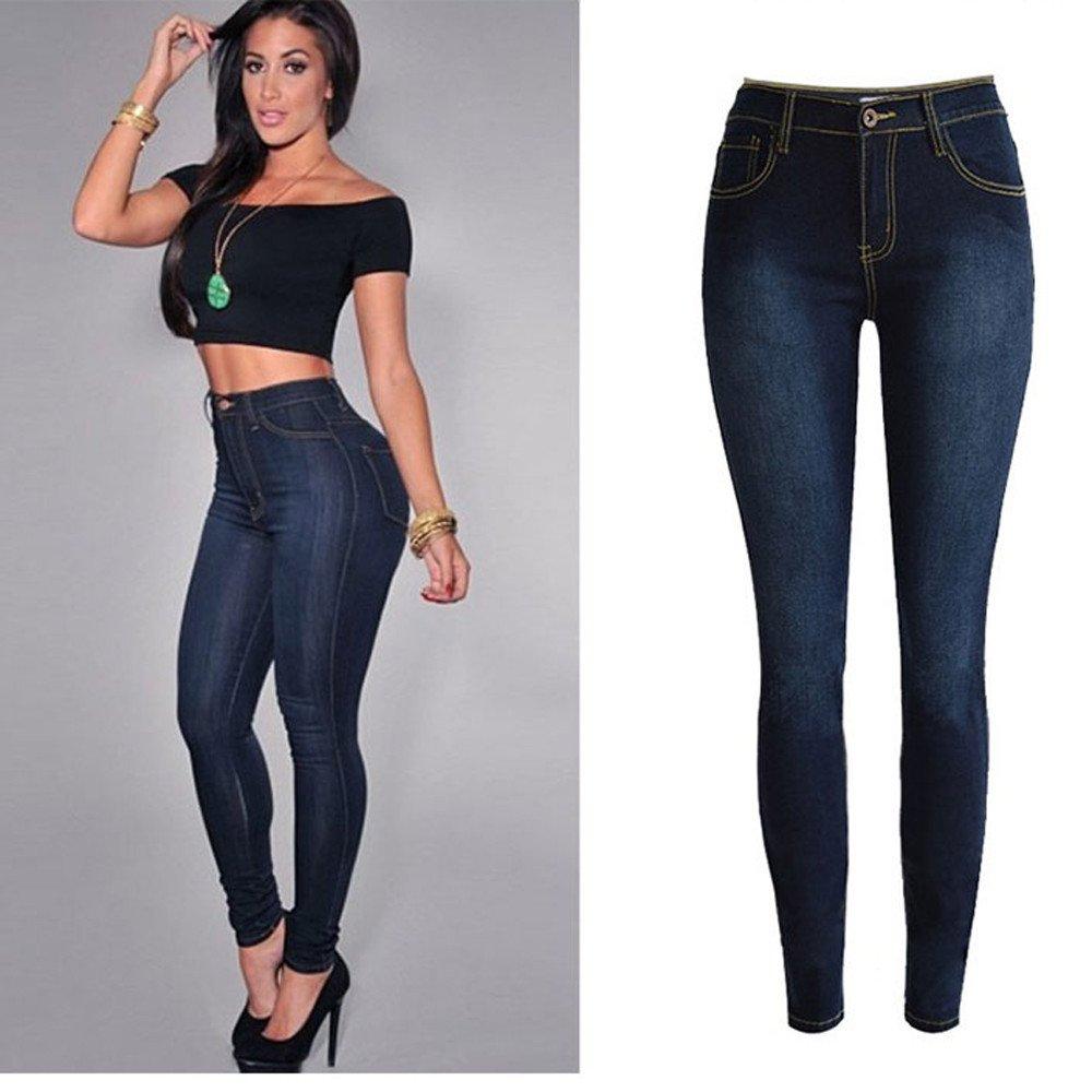 STRIR Mujer Pantalones Vaquero Skinny Push Up Pantalones Elástico Jeans: Amazon.es: Ropa y accesorios