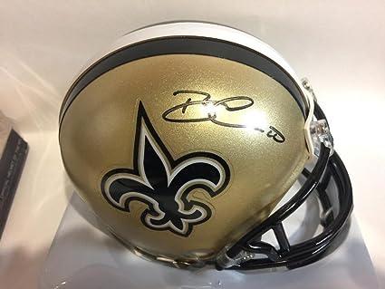 6128e84d Amazon.com: Brandin Cooks Signed New Orleans Saints Gold Mini Helmet ...