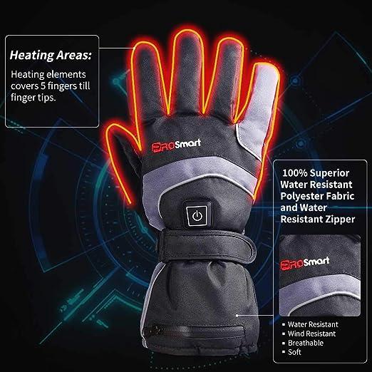 Mermaid Elektrische Beheizbare Handw/ärmer Handschuhe f/ür Herren Damen Winterhandschuhe mit Wiederaufladbare Lithium-Ionen-Batterie Beheizt 3.7V