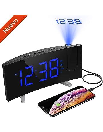 "Despertador Proyector, Holife Reloj Digital Proyector, Fácil de Operacion, 5""Pantalla LED"