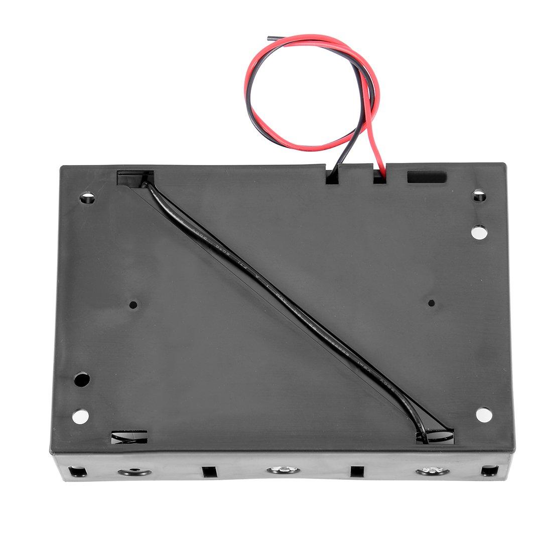 uxcell 4.5V Battery Holder Case Storage Box 3 x 1.5V D Batteries Wire Leads 20Pcs