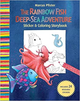 Rainbow fish deep sea adventure sticker and coloring storybook rainbow fish deep sea adventure sticker and coloring storybook marcus pfister 9780735823181 amazon books fandeluxe
