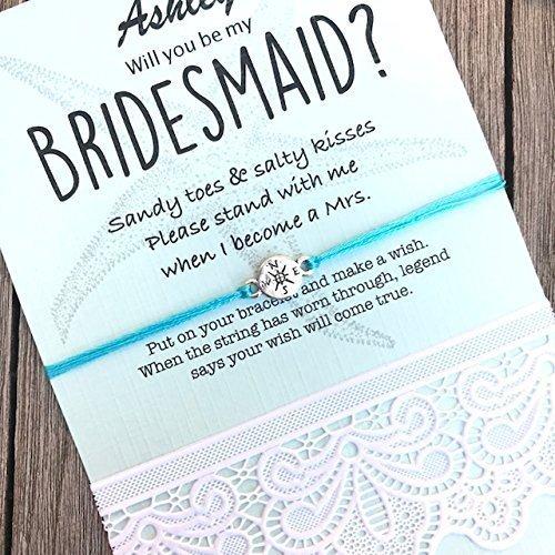 Amazon.com: Bridesmaid gifts with beach wedding theme| Beach wedding ...