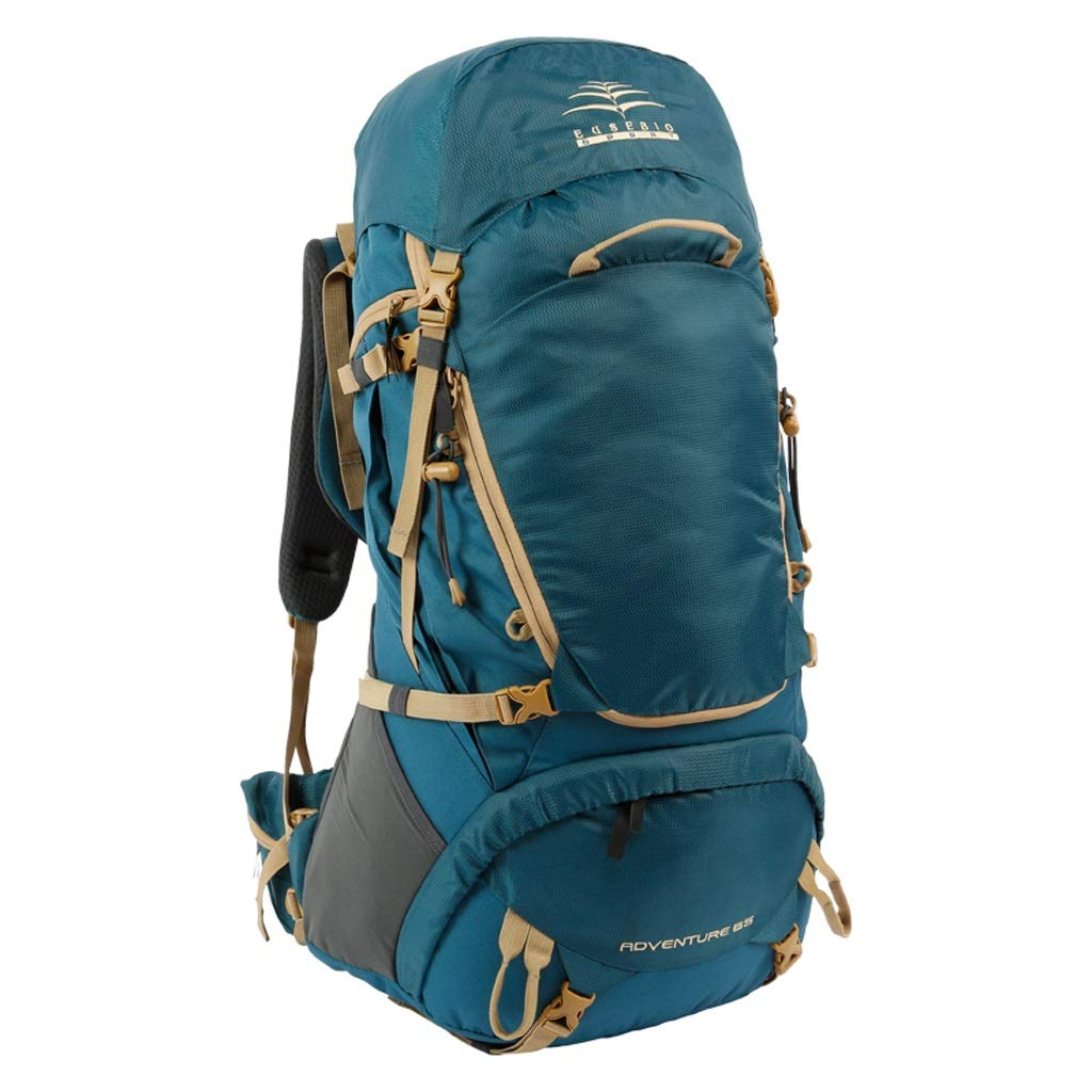 JSSFQK アウトドアバックパック登山男性と女性の防水バッグ大容量スポーツバッグトラベルバックパック乗馬バッグ65 L、2色オプション アウトドアバックパック (色 : B) B07PLS1P17 B