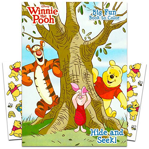 Winnie the Pooh Coloring Book with Stickers ~ 96-page Coloring Book with Winnie the Pooh Stickers Pack (Baby Winnie The Pooh And Friends Coloring Pages)