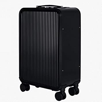LJSHU Caja De Equipaje De Aluminio-Aleación De Magnesio 4 Ruedas Trolley Caso Universal Rueda De Metal Maleta,Black,20Inch: Amazon.es: Deportes y aire libre