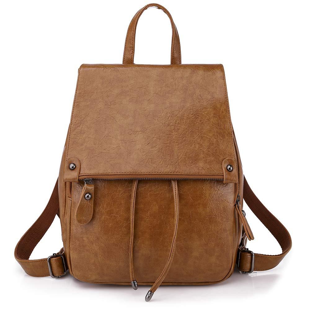 Everfunny Backpack for Women Leather Backpack Fashion Shoulder Bag Rucksack Casual Daypack for Ladies