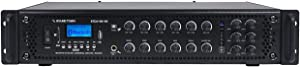 Sound Town 180Watts 6-Zone 70V/100V Commercial Power Amplifier with Bluetooth, for Restaurants, Lounges, Bars, Pubs, Schools and Warehouses (STCA180-6Z)