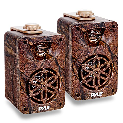 Dual Waterproof Outdoor Speaker System - 3.5 Inch Pair 3-Way