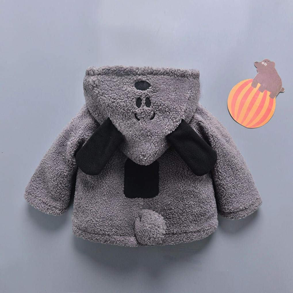 GBSELL Toddler Baby Kids Girls Boy Cartoon Thick Warm Jacket Outfits Clothes Fall Winter (Gray, 6-12 Months) by GBSELL Baby (Image #4)