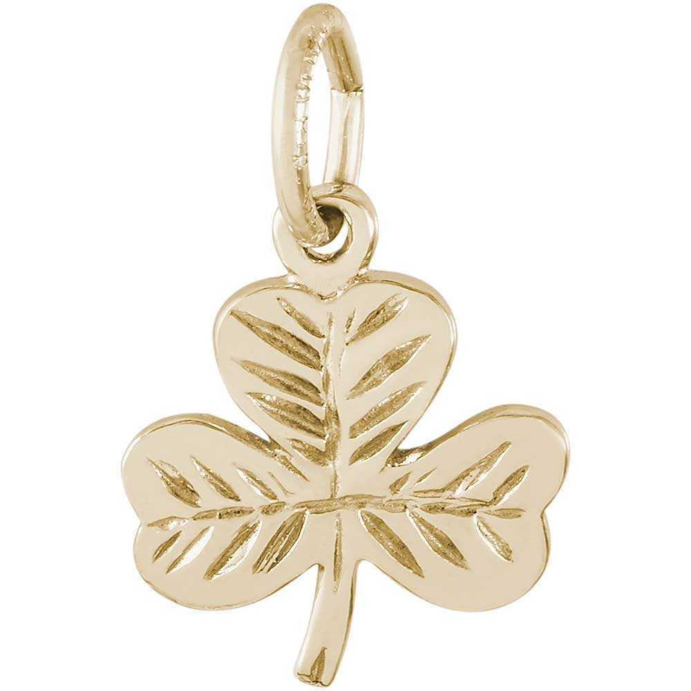 Rembrandt Charms Shamrock Charm, 14K Yellow Gold