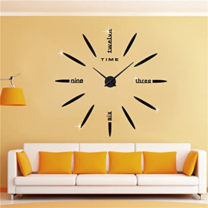 Sunjun Grandes modernos tapices de pared reloj de pared creativo de la moda del reloj de