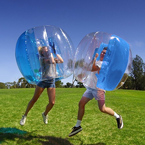 Holleyw Inflatable 4  Wearable Buddy Bumper Zorb Balls Heavy Duty Durable PVC Viny Bubble Soccer Outdoor Game (Only 1,Blue)