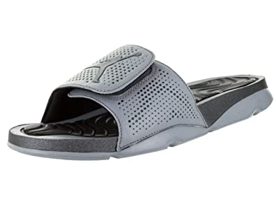 f439a8cd96c4 Nike Jordan Mens Jordan Hydro 5 Cool Grey Mtlc Hematite Black Sandal 8 Men