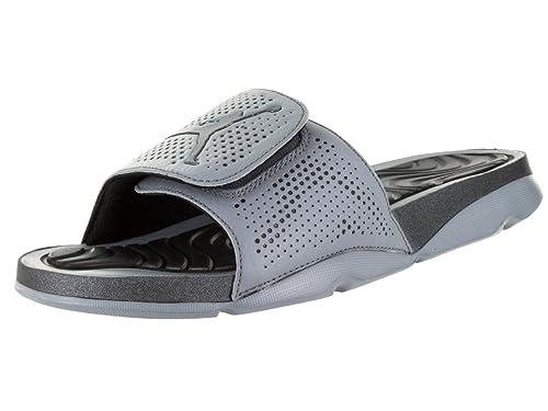 Nike Jordan Men's Jordan Hydro 5 Cool Grey/Mtlc Hematite/Black Sandal 8 Men