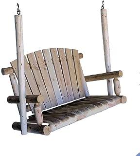 product image for Lakeland Mills 4-Foot Cedar Log Porch Swing, Natural