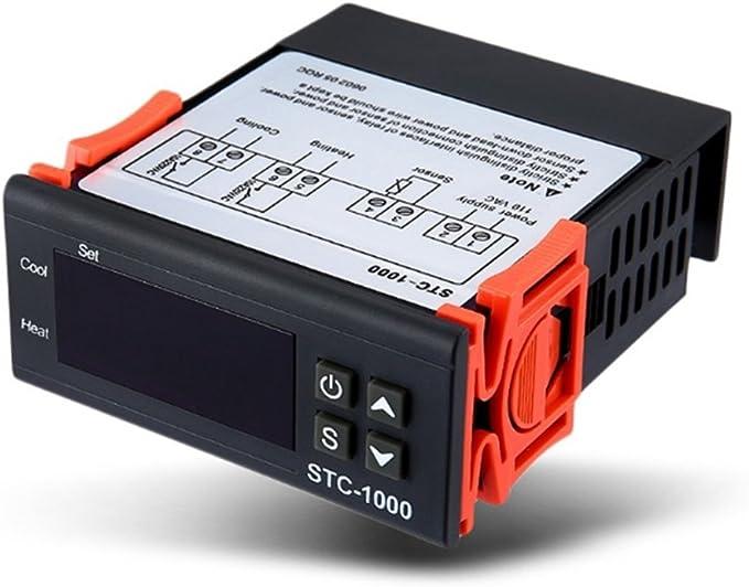 Huatuo STC-1000 12V Incubation Aquarium Seafood Electronic Controller elettronico di temperatura del microcomputer