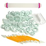 H&S 50 Pcs Sugarcraft Cup Cake Decorating Tool Fondant Icing Plunger Cutters Moulds