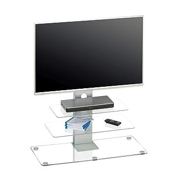 Maja Möbel Tv Rack Glas Transparent Amazonde Küche Haushalt