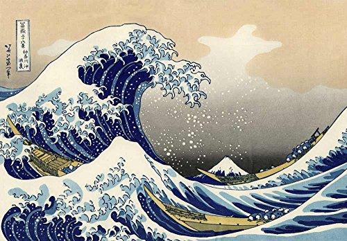 The Great Wave off Kanagawa by Katsushika Hokusai Peel and Stick Large Wall Mural Removable Wallpaper