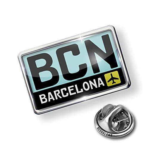 Amazon.com: NEONBLOND Pin Airport Code BCN/Barcelona Country ...