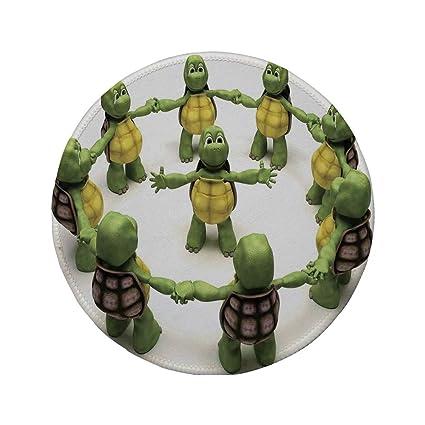 Amazon.com : Non-Slip Rubber Round Mouse Pad, Reptile, Ninja ...