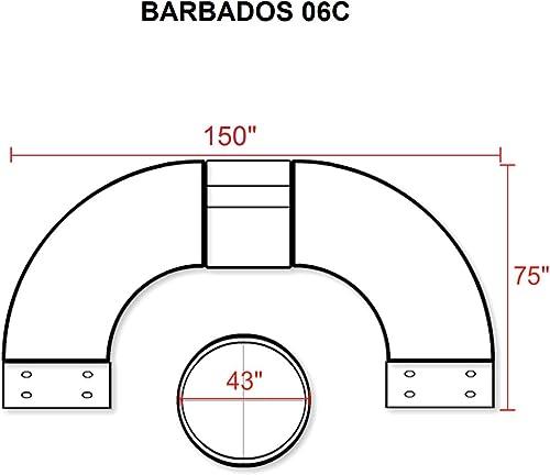 TK Classics 6 Piece Barbados Outdoor Wicker Patio Furniture Set