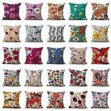 Set of 100 Bulk Wholesale Exotic Plants Flower Cushion Covers Sofa Pillow Sets Patio Cushions Covers