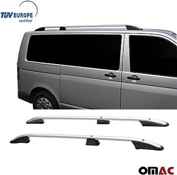 Top Roof Rack Side Rails Bars Silver Set For VW Transporter T5 T6 2003
