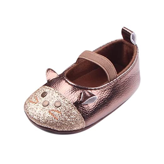 6fb890d01 Amazon.com  KONFA Toddler Baby Girls Lovely Cartoon Cat Shoes