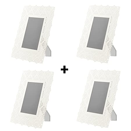 Set of 4 Skurar Picture Frames 5 x 7 inch, White Picture Photo Frame ...