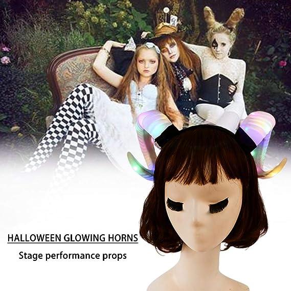 whelsara Diadema de Halloween Accesorios de disfraces LED Gótico ...