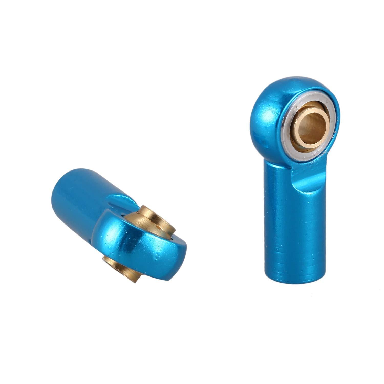 WOVELOT 5Pcs M3 Ball Joint Link Rod Bar Seals Head Ball Tie Rod End For 1//10 Rc Truck Car Truck Buggy Blue