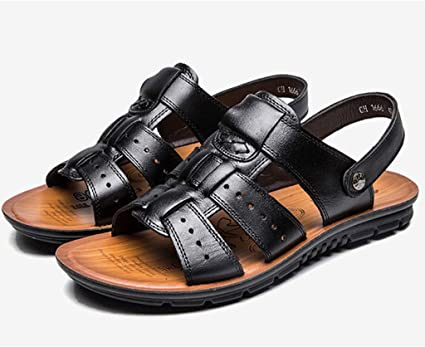 Men/'s Roma Leather Cut Out Beach Sandals Outdoor Leisure Athletic Shoes Fashion
