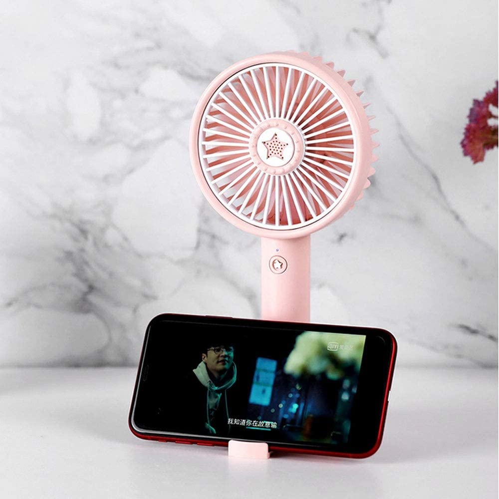 10.56.422cm//4.22.568.8 Inches, Black//Blue//Pink Easy to Carry Comfortable and Compact Color : Blue Rechargeable and Quiet Yougou01 Electric Fan