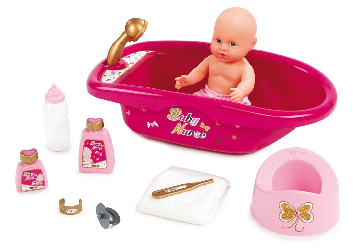 Princess Coralie 16478 Puppen-Badewanne mit Zubehör Spielzeug Babypuppen & Zubehör