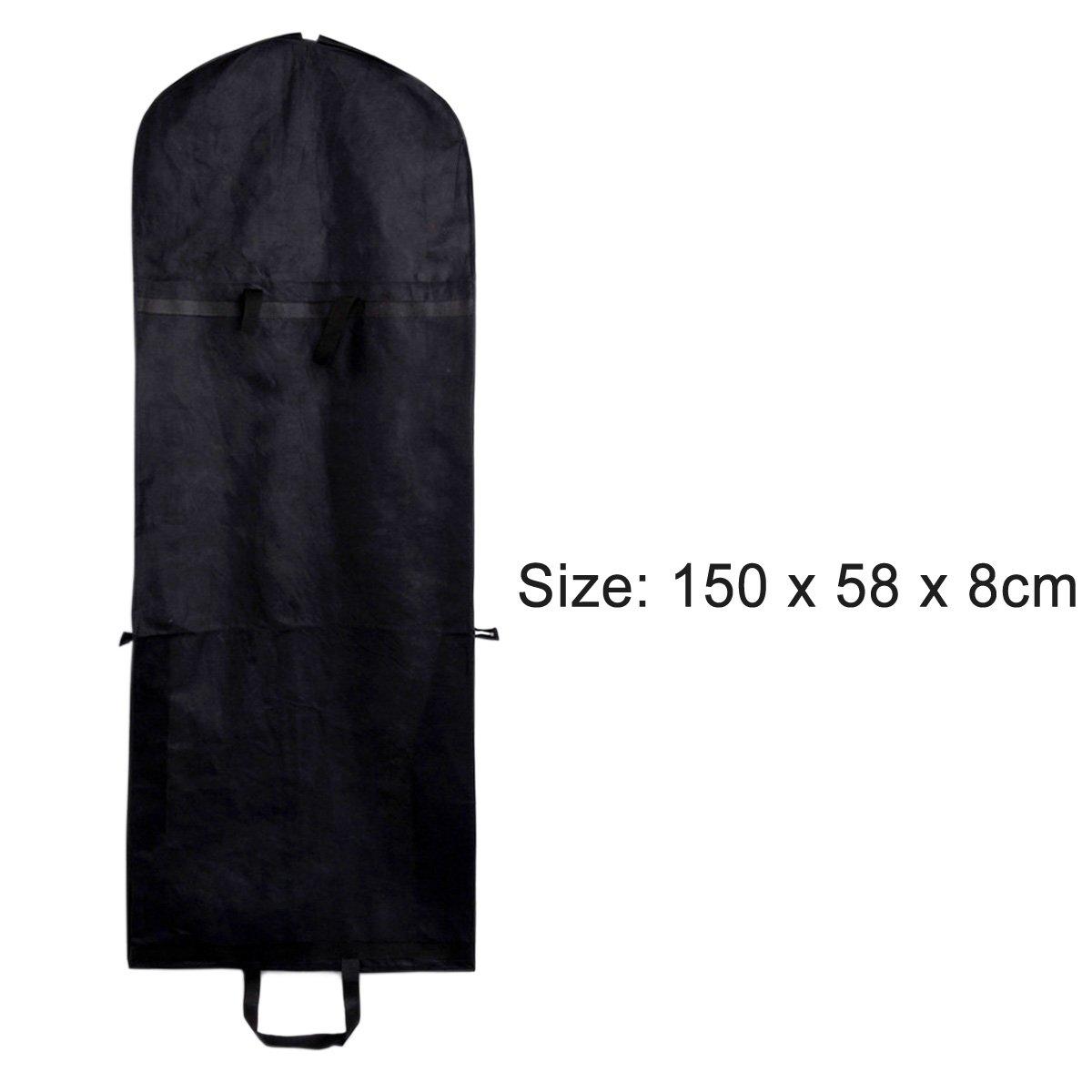 Gosear Port/átiles Plegables Bolsa de Protecci/ón Cubierta a Prueba de Polvo de Tela No Tejida para Vestido Traje Capa Ropa,Negro