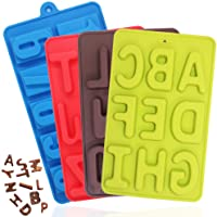 4 Pcs Silicone Numbers Alphabets Trays Molds, FineGood 26 Letters & Numbers Candy Mould Biscuit Chocolate DIY Baking…