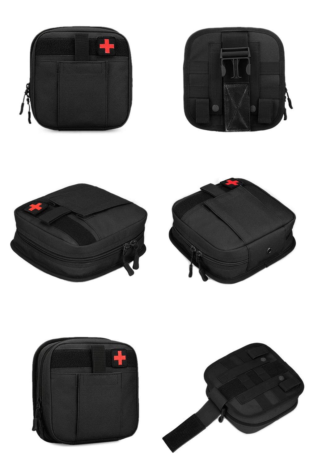 Tactical Thigh Hip Outdoor Pack MOLLE First Aid Kit Bag IFAK Medical Utility Pouch CamGo Multifunctional Drop Leg Waist Bag
