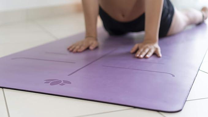 Fair Soul - Esterilla de Yoga en Caucho Natural con Sistema de Alineación y Gráficos. Superficie Antideslizante. Agarre máximo. El mas Grande 183cm X ...