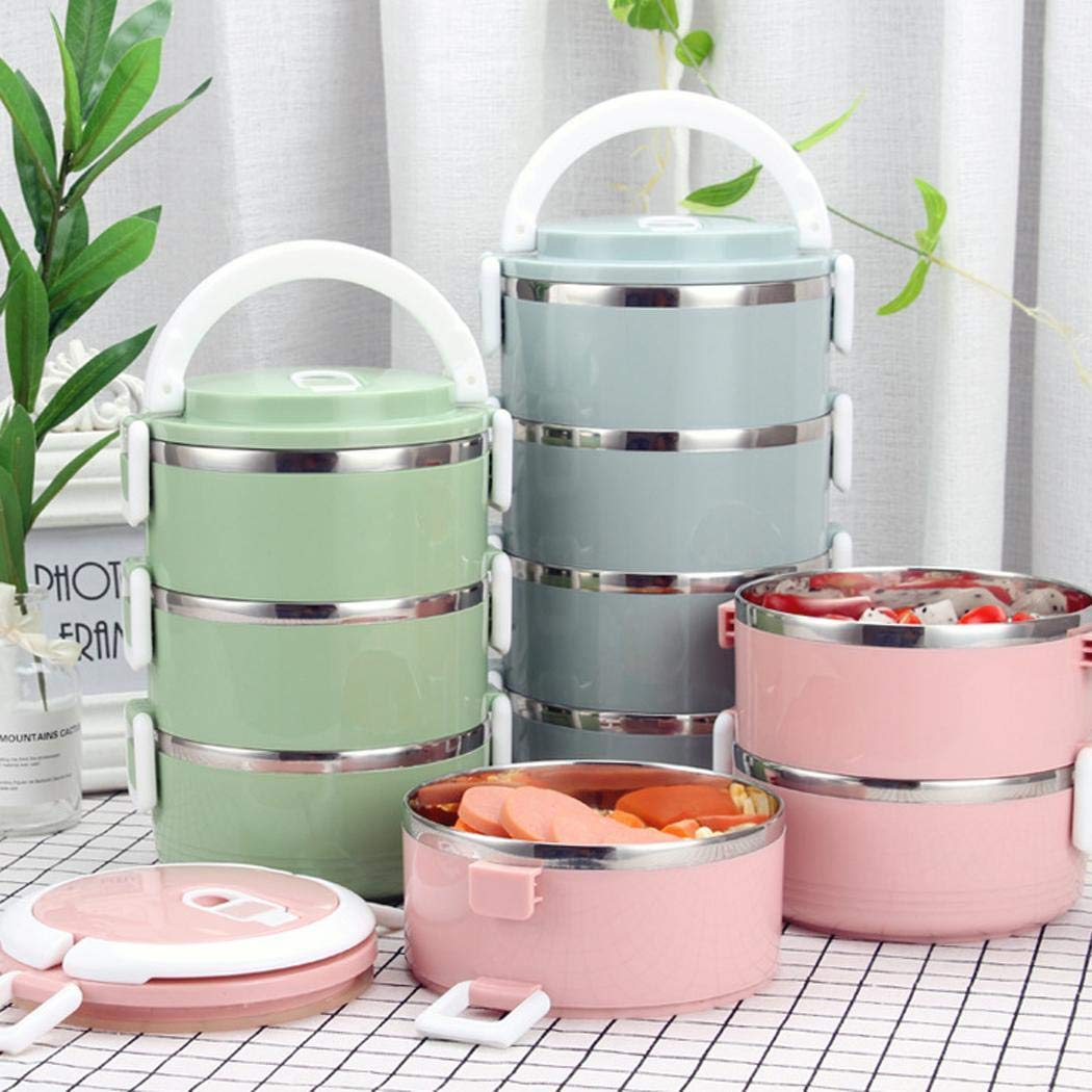 MelysUS Multi-layer Stainless Steel Thermal Insulated Lunch Box Food Storage Container Lunch Boxes